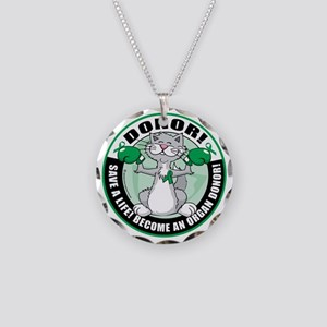 Organ-Donor-Cat-Donor Necklace Circle Charm