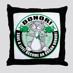 Organ-Donor-Cat-Donor Throw Pillow