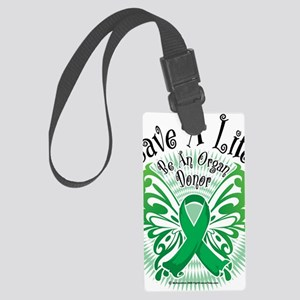 Organ-Donor-Butterfly-3 Large Luggage Tag