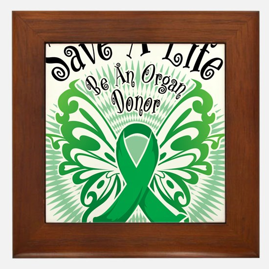 Organ-Donor-Butterfly-3 Framed Tile
