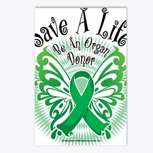 Organ-Donor-Butterfly-3 Postcards (Package of 8)