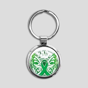 Organ-Donor-Butterfly-3-blk Round Keychain