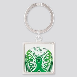 Organ-Donor-Butterfly-3-blk Square Keychain