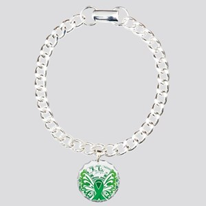 Organ-Donor-Butterfly-3- Charm Bracelet, One Charm
