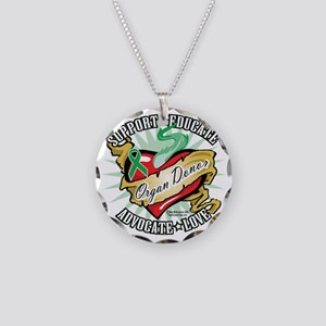Organ-Donor-Classic-Tattoo Necklace Circle Charm