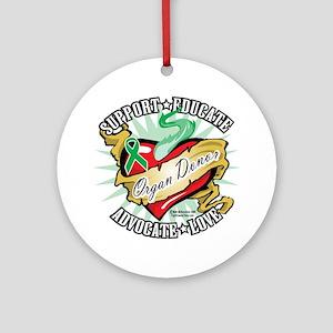 Organ-Donor-Classic-Tattoo Round Ornament