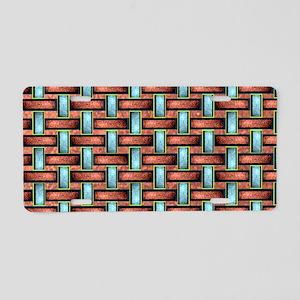 19th Pattern; Custom Basket Aluminum License Plate