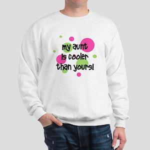 myauntiscoolerthanyours_pinkcircles Sweatshirt