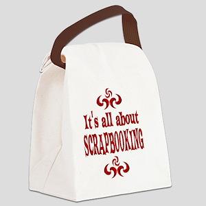 SCRAPBOOKING Canvas Lunch Bag
