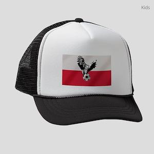 Polish Football Flag Kids Trucker hat