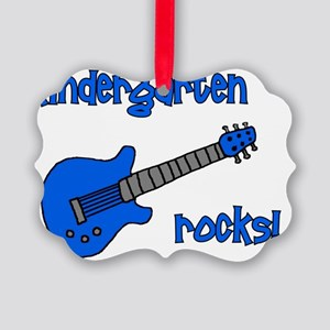 kindergartenrocks_blue Picture Ornament