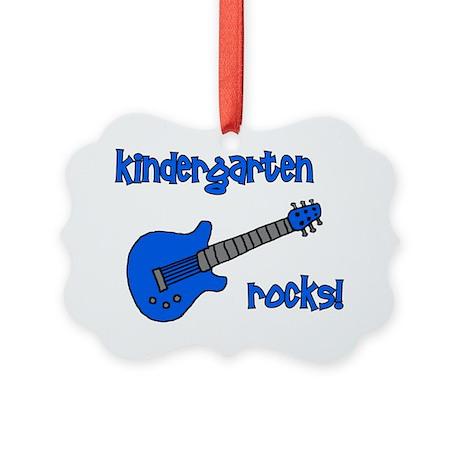 kindergartenrocks_blue Picture Ornament