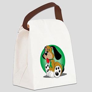 Organ-Donor-Dog-blk Canvas Lunch Bag