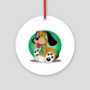 Organ-Donor-Dog-blk Round Ornament
