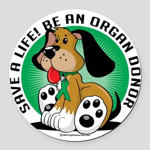 Organ-Donor-Dog Round Car Magnet
