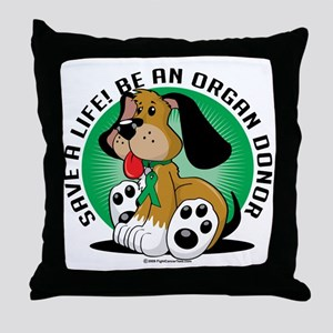 Organ-Donor-Dog Throw Pillow