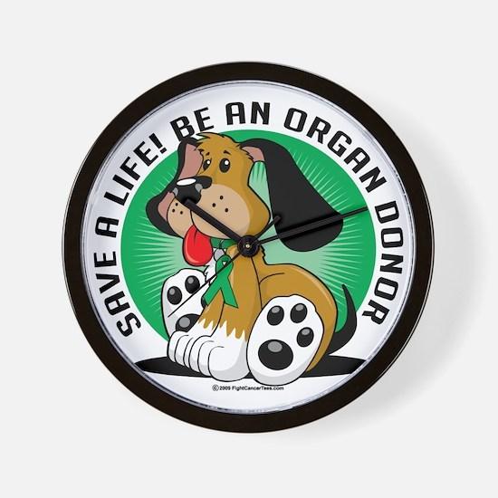 Organ-Donor-Dog Wall Clock