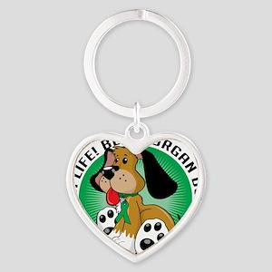 Organ-Donor-Dog Heart Keychain