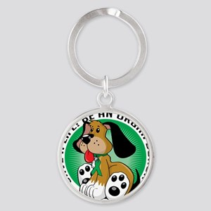 Organ-Donor-Dog Round Keychain