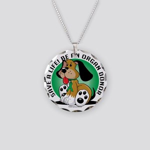 Organ-Donor-Dog Necklace Circle Charm