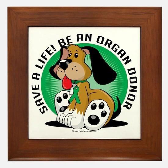 Organ-Donor-Dog Framed Tile