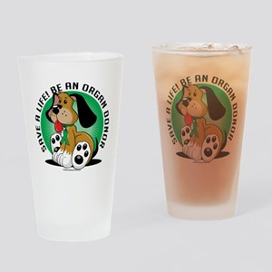 Organ-Donor-Dog Drinking Glass