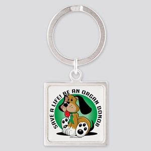 Organ-Donor-Dog Square Keychain