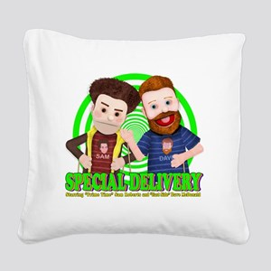 Special_Delivery_Puppets_01 Square Canvas Pillow