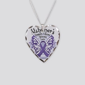 Alzheimers-Butterfly-3 Necklace Heart Charm
