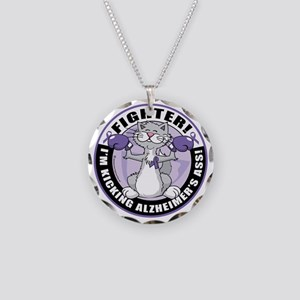 Alzheimers-Cat-Fighter Necklace Circle Charm