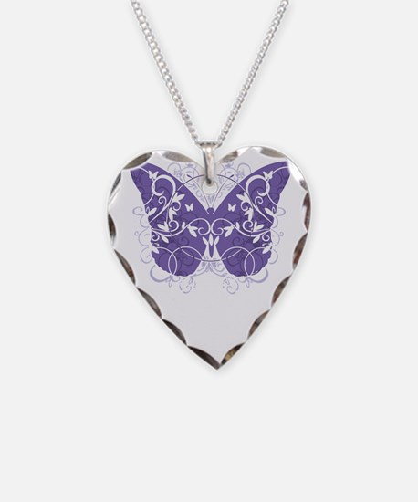 Alzheimers-Butterfly-blk Necklace