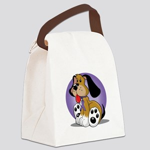 Alzheimers-Dog-blk Canvas Lunch Bag