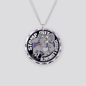 Stomp-Out-Alzheimers-Circle Necklace Circle Charm