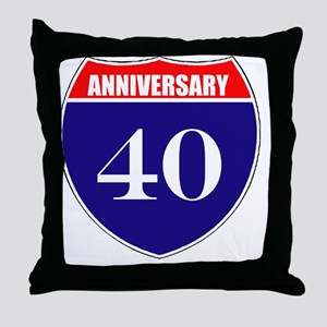 is40ann Throw Pillow