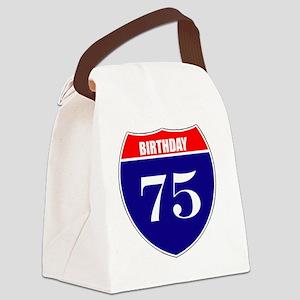 is75birth Canvas Lunch Bag