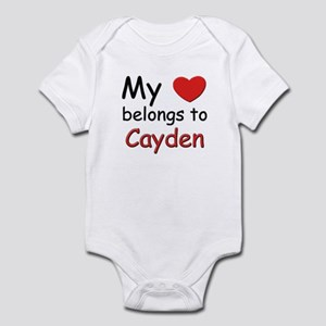 My heart belongs to cayden Infant Bodysuit