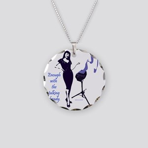 enough_with_the_talking_alre Necklace Circle Charm