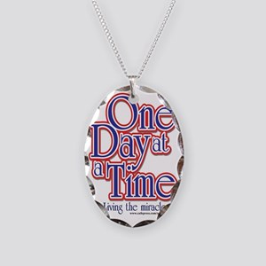 one-day-at-a-time7jpegweb Necklace Oval Charm