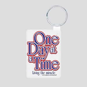 one-day-at-a-time7jpegweb Aluminum Photo Keychain