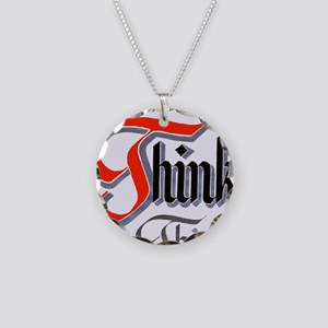 aa_think_think_think Necklace Circle Charm