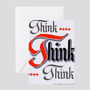 aa_think_think_think Greeting Card