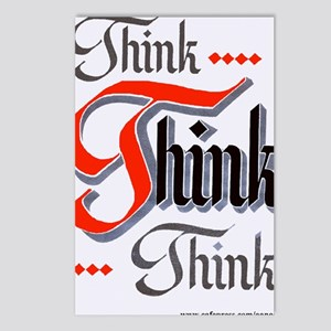 aa_think_think_think Postcards (Package of 8)