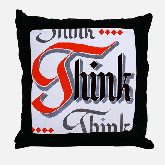 aa_think_think_think Throw Pillow