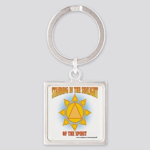 2-star-in-sunlight-web Square Keychain