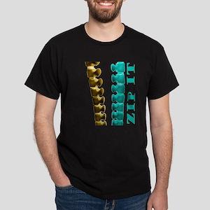 Just Zip It Midnight Black T-Shirt