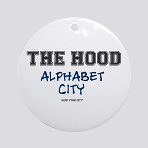 THE HOOD - ALPHABET CITY - NEW YORK Round Ornament