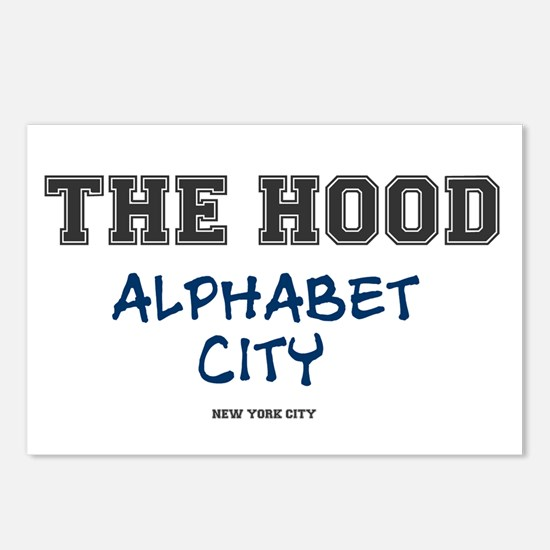 THE HOOD - ALPHABET CITY Postcards (Package of 8)