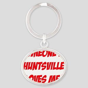Huntsville2 Oval Keychain