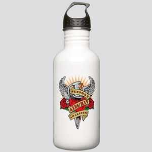 AIDS-HIV-Dagger Stainless Water Bottle 1.0L
