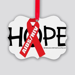 AIDS-HIV-Hope Picture Ornament